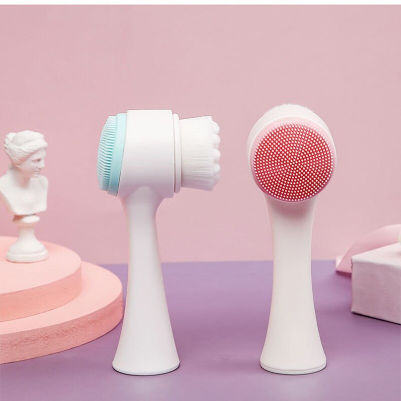 Cepillo de silicona para limpieza Facial, Exfoliante para limpieza de poros, 2...
