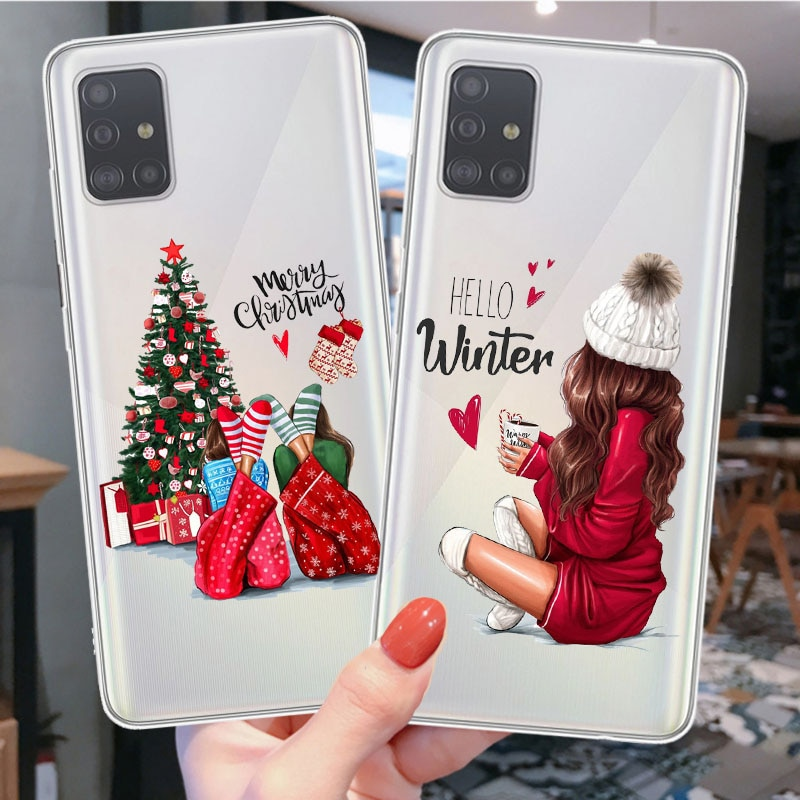 Christmas Santa Claus snow deer Vogue girl Soft Phone Case Cover Funda Coque For Samsung S20 Ultra S7 S8 S9 Plus S10 e S20 Plus