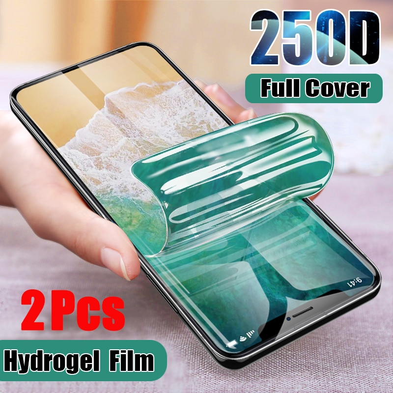 AliExpress - 2Pcs Full Cover Hydrogel Film For iPhone 12 11 Pro Max SE 2020  Screen Protector Film For iPhone XR X 7 8 Plus XS Max Not Glass