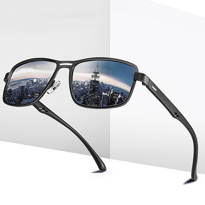 Mougol marca 2020 moda óculos de sol homens polarizados quadrado metal quadro masculino óculos de condução pesca zonnebril heren
