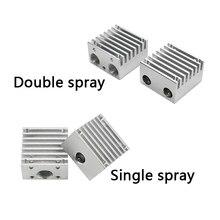 V6 disipador de calor para quimera multi extrusora de aleación de aluminio de doble cabeza de refrigeración de aleta 30*30*18mm para parte de impresora 3D