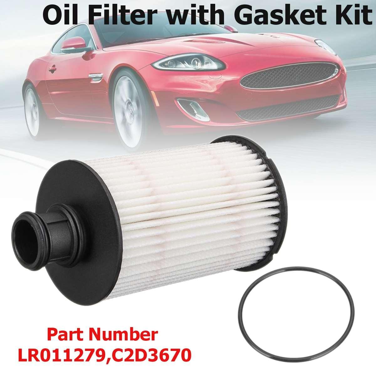 # LR011279,C2D3670 filtro de aceite de motor con Kit de junta para Jaguar XFR/XJR/XKR/f-type para Land Rover Range Rover Sport