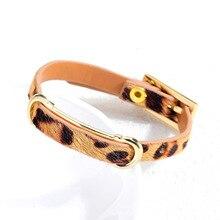 Hemiston imprimé léopard populaire femmes cheval cheveux Bracelet ceinture réglable en cuir Bracelet femmes