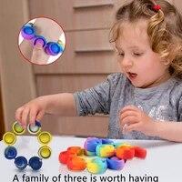 3pc popits fidget stress toys reliever push rainbow bracelet pop bubble adult children sensory amongus relieve autism fidget toy
