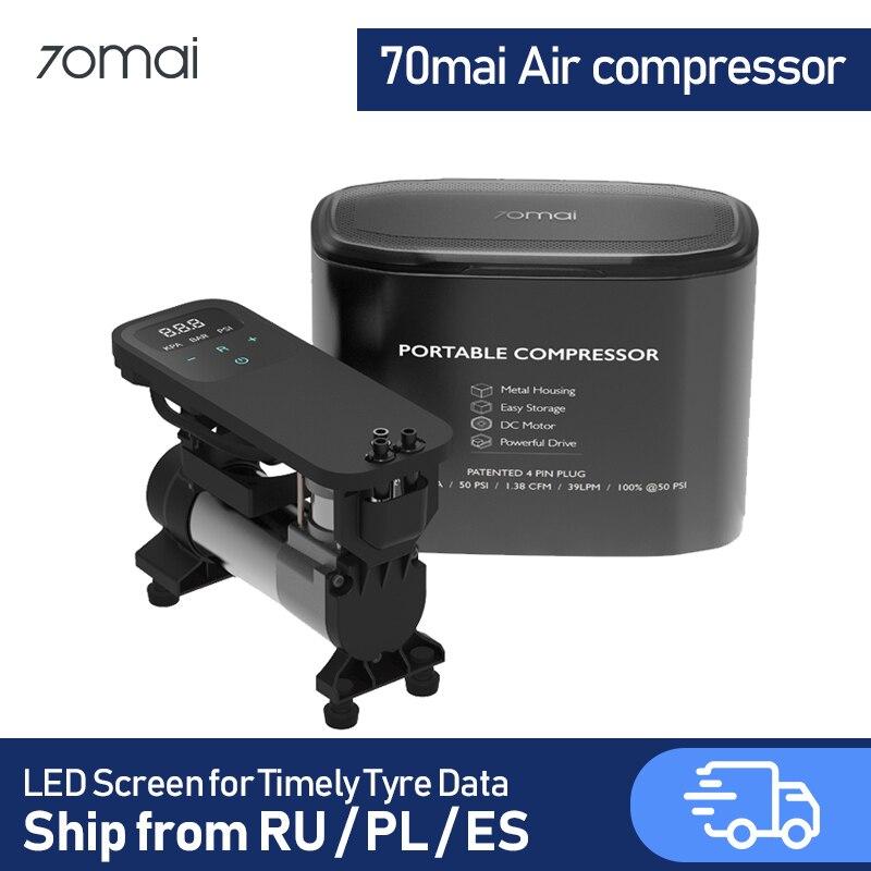 70mai воздушный компрессор Умный Цифровой воздушный насос переносной Elextric Trie надувной автоматический воздушный компрессор для автомобиля