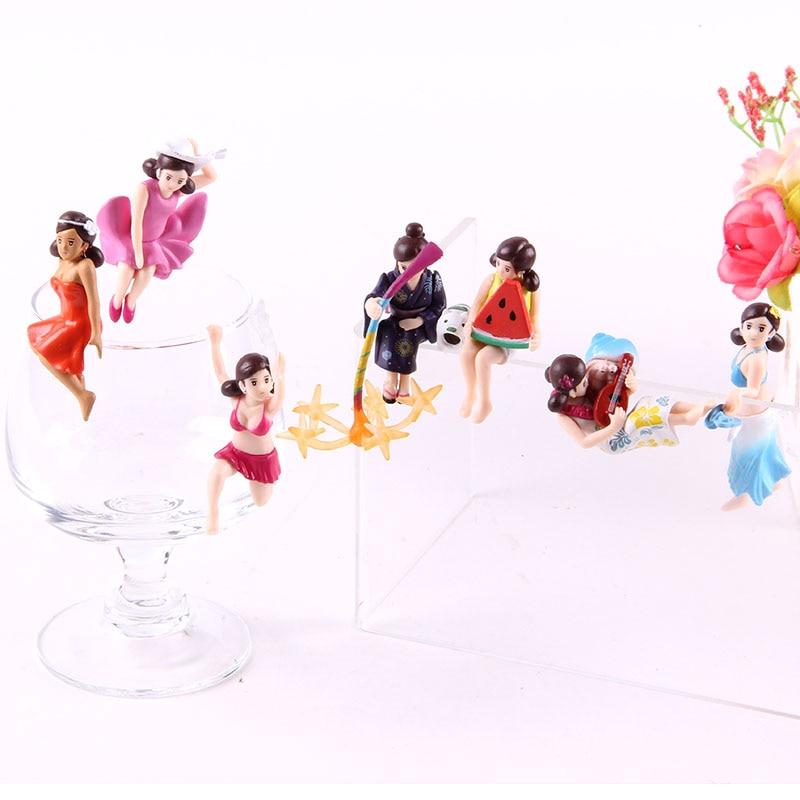 Cup No Fuchiko Kitan Club Cup Decoration Dolls Anime Action Figure PVC Collectible Model Toys 7pcs/set