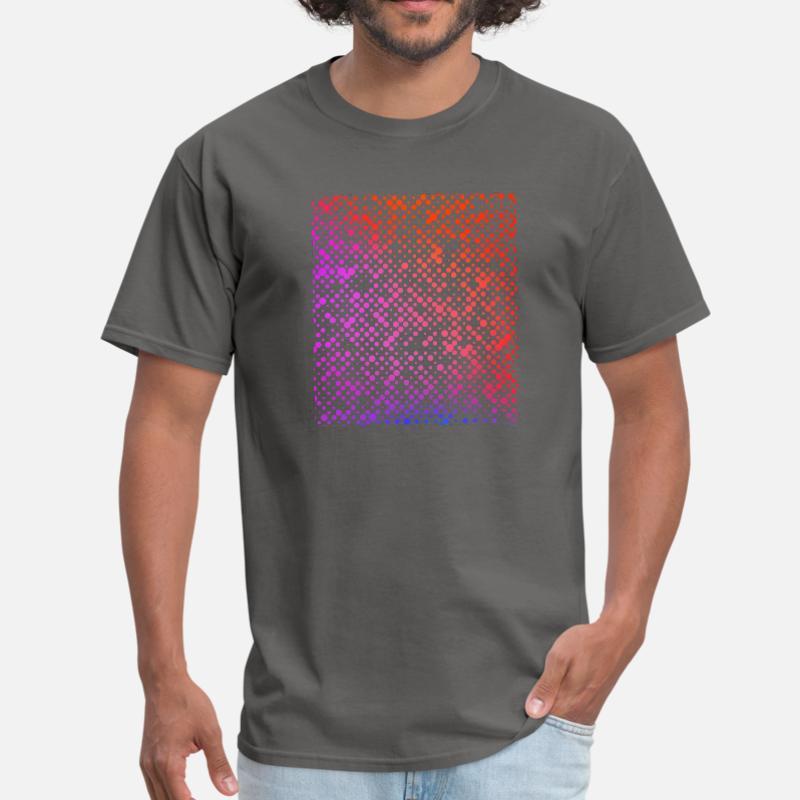 Camiseta con estampado de puntos caóticos coloridos para hombre, Camiseta clásica a la moda para chicos y chicas, camiseta Pop Top de manga corta