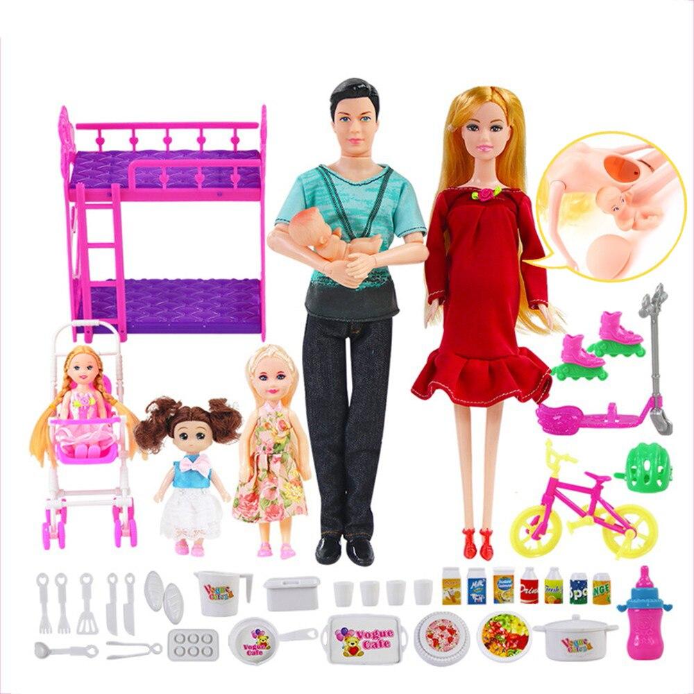 Bebé Reborn 1 Kit bebé Reborn juguete articulado muñecas embarazadas muñecas interactivas educativas Jonint Bebe Reborn muñeca para niños
