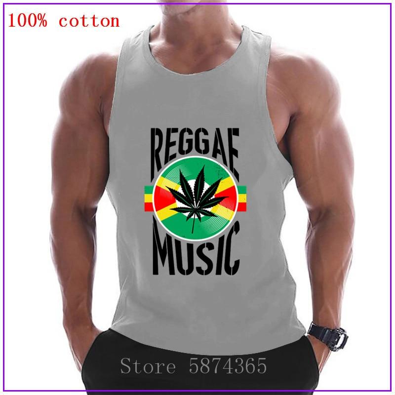 Reggae music rasta jamaica canabbis vinil melhor idéia presente preto tanque topos 2020 verão gráfico bonito musculação colete roupas