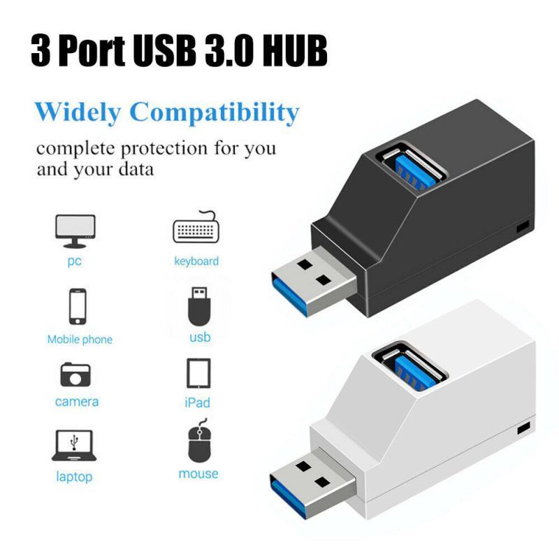 3 portas usb hub mini usb 3.0 cubo de alta velocidade usb divisor caixa mágica para computador portátil acessórios para computador portátil adaptador conversor txtb1