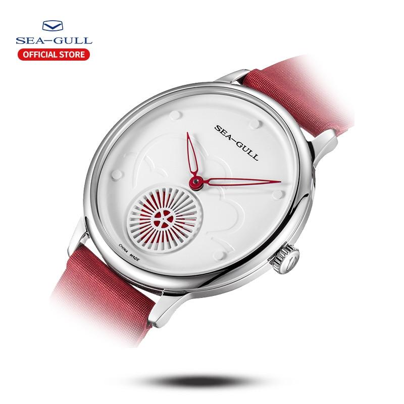 Seagull watch fashion ladies manual mechanical watch simple fashion ultra-thin watch hollow waterproof watch 813.96.6024L enlarge
