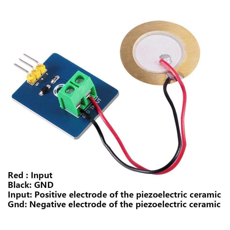 Piezoelectric Sensor Analog Ceramic Vibration Sensor Module Piezo Vibration Sensor Module for Arduino DIY KIT 37 a sensor suite sensor module electronic module sensor robotics kit smart car