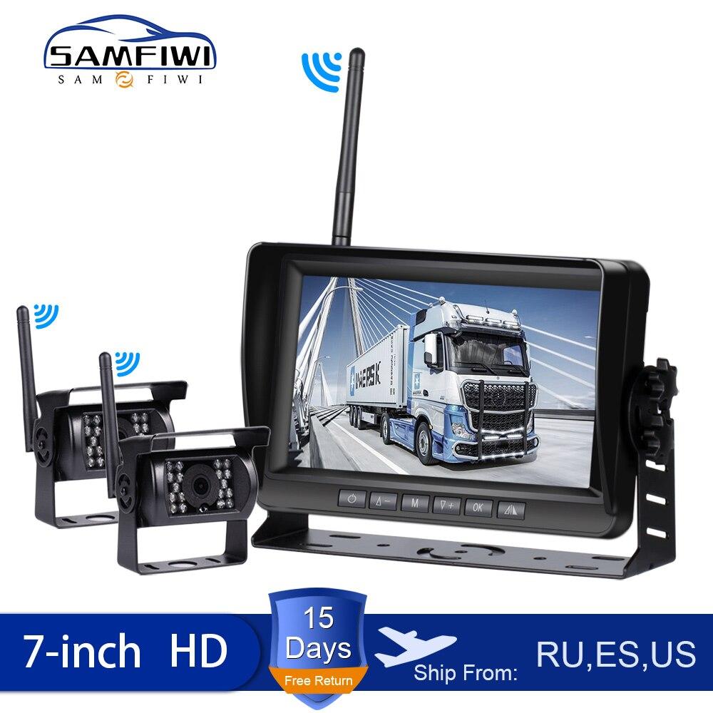 7 inch wireless car monitor screen reverse Vehicle monitors reversing camera screen for car monitor for auto Truck RV