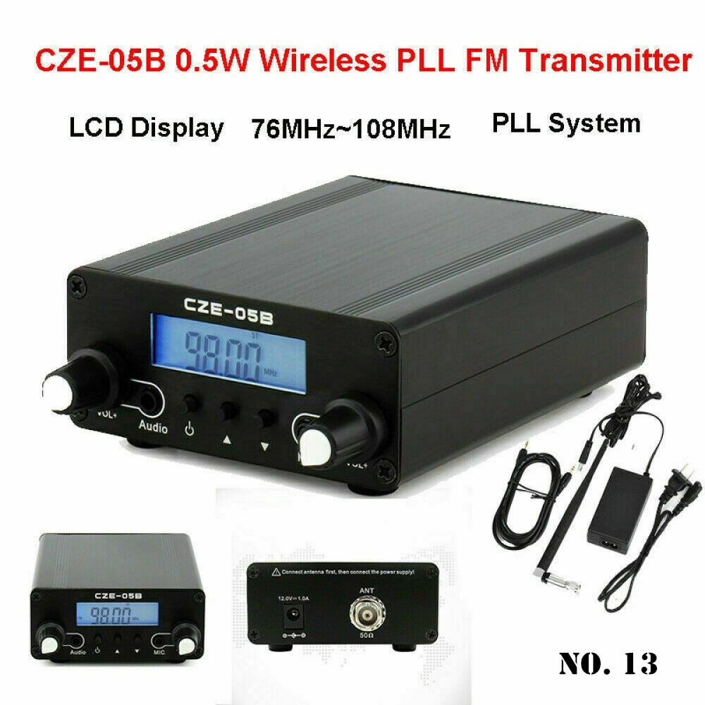 Inalámbrica Bluetooth Transmisor estéreo música 76MHz ~ de antena de 108MHz casa transmisión CZE-05B inalámbrico PLL FM Transmisor LCD