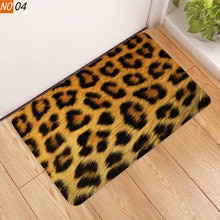 Sholisa Anti Slip Bath Mat Bathroom Carpet Rug Floor Rug 3d Print Leopard Zebra  toilet non-slip mats for Doormat
