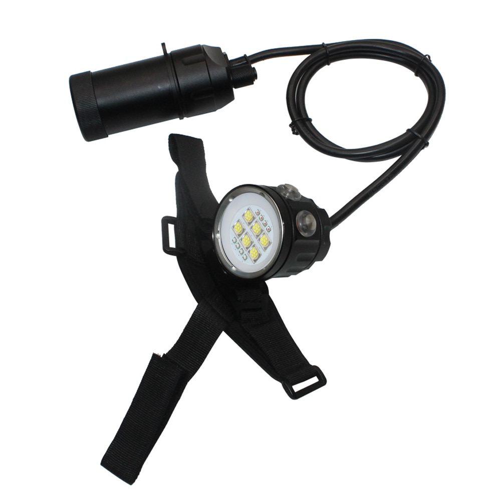 High Power XHP90 LED Underwater Video Light Waterproof Underwater 100M Canister Diving Flashlight Torch 18650 Scuba Flash light enlarge