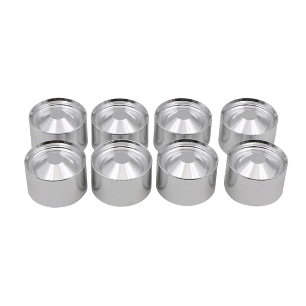 "8X tazas de almacenaje de aluminio para NAPA4003 WIX 24003 OD 1.797 ""ID 1.620"" plata"