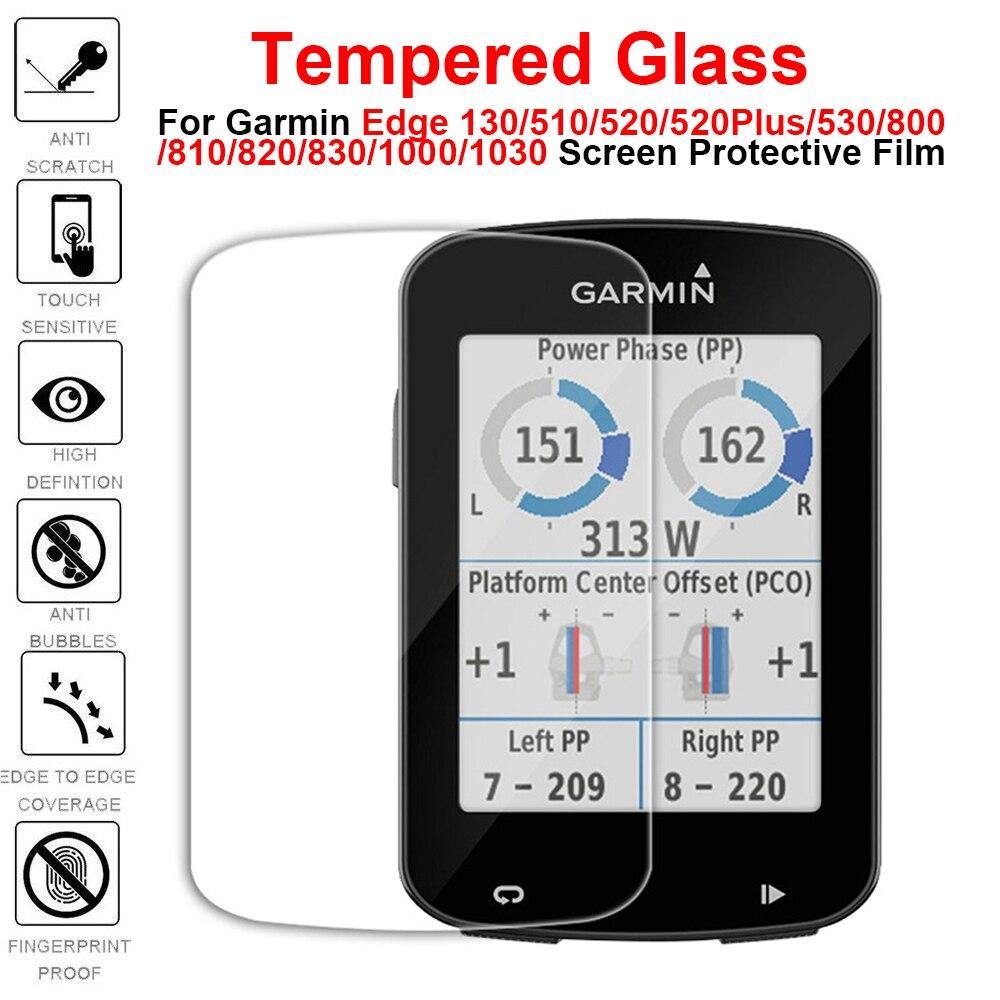 2PCS Temperado Vidro para Garmin Edge 130 520 520 Mais 530 820 830 Protetor De Tela Protetor de vidro Para 1000 1030 Película Protetora
