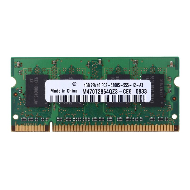 Memoria RAM DDR2 para portátil, 1GB, 677Mhz, PC2-5300S-555, 200 Pines, 2RX16, SODIMM,...