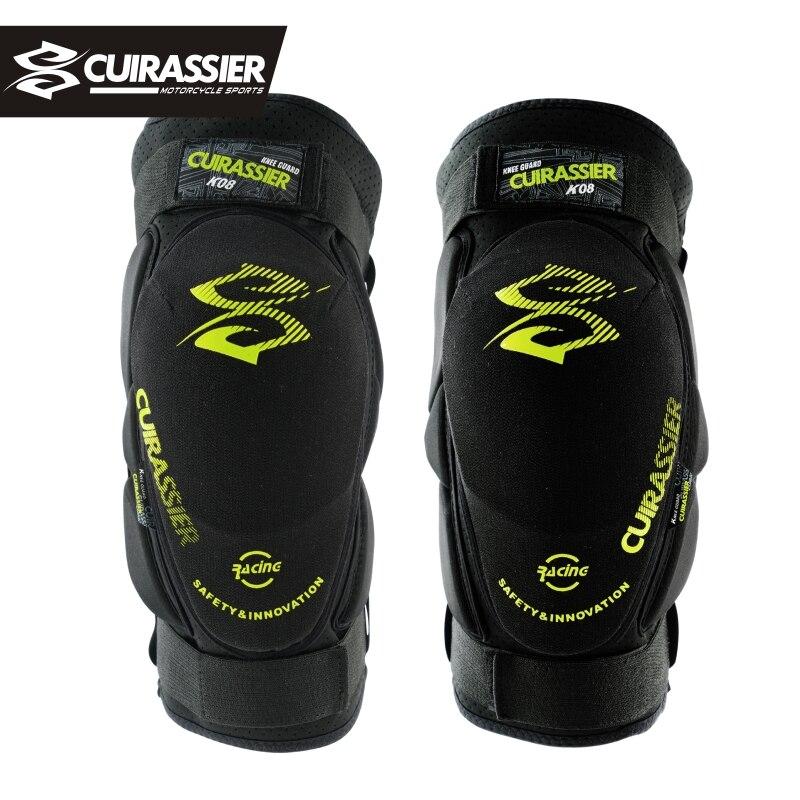 Cuirassier Protector de rodilla para motocicleta, rodilleras suaves, protectores de rodilla para Moto, esquí de montaña de soporte para rodillera, equipo Protector negro