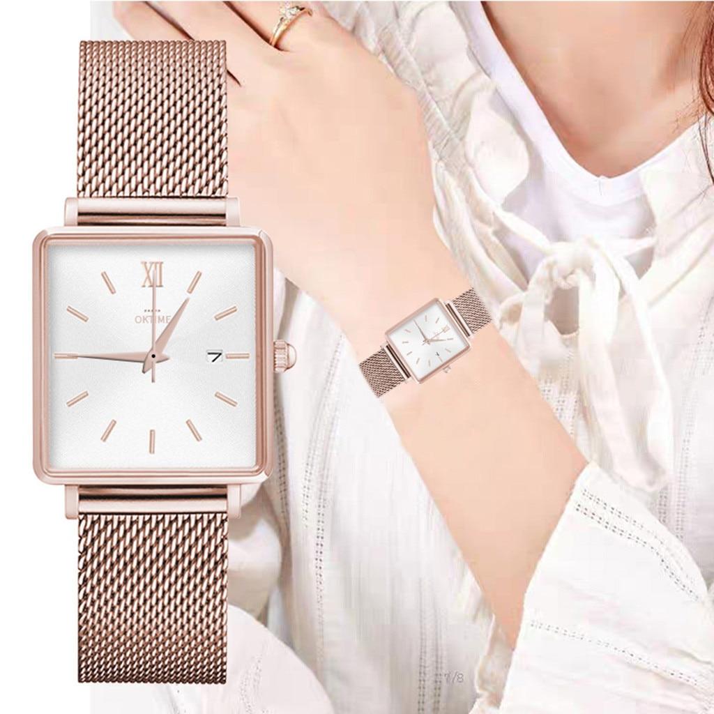 Ladies Student Exquisite Watch Hot Sale Creative Fashion Square Roman Digital Quartz Watch Gift Selection relogio feminino 50*