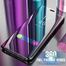 Smart Spiegel Flip Fall Für Huawei P40 Mate 30 Pro P20 Lite P30 P Smart 2019 Ehre 8X 10 Mate 20 Pro P9 P10 Kunststoff Telefon Fall