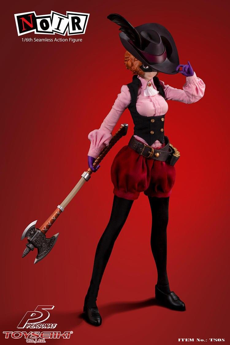 En Stock TS08 personaje coleccionable 5 NOIR figura de Acción Femenina sin costuras en Stock modelo a escala 1/6 para Fans regalos de colección