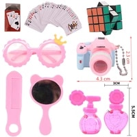 doll travel camera poker cards block puzzle speed cube toys glasses for 18 inch american43 cm reborn baby new born doll girl