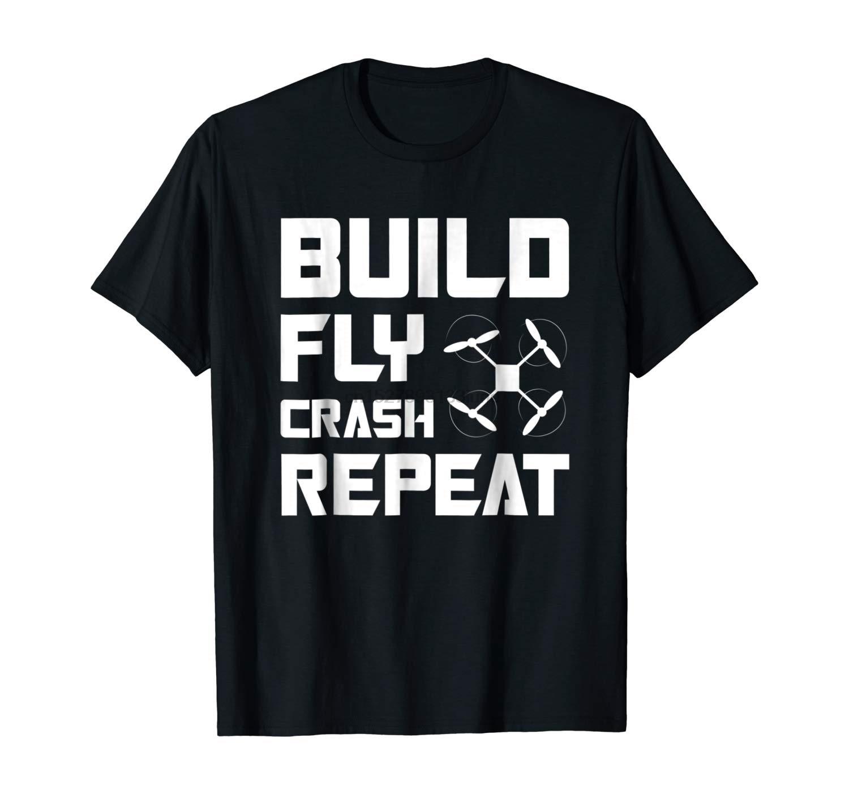 Construir volar accidente repetir Quadcopter Drone camiseta