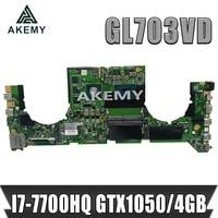 akemy dabknmb28a0 laptop motherboard for asus rog strix gl703vd gl703v original mainboard i7 7700hq gtx1050