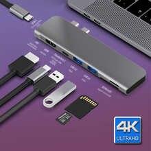 USB 3,1 Type-C концентратор HDMI адаптер 4 к Thunderbolt 3 USB C концентратор с 3,0 TF Card Reader слот C PD для MacBook Pro/Air 2018 - 2020