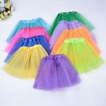3 Layers Tulle Girl Party Wear Gowns Princess White Tutu Skirt For Kids Dance Summer Short Fluffy Sa
