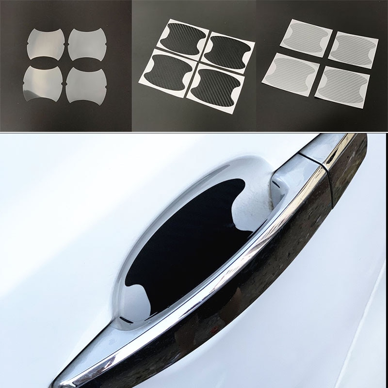 4 unids/lote protección de manija de coche pegatina para Cadillac CTS XTS SRX ATS CT6 ESCALADE XT4 XT5 XT6 Escala Elmiraj ELR