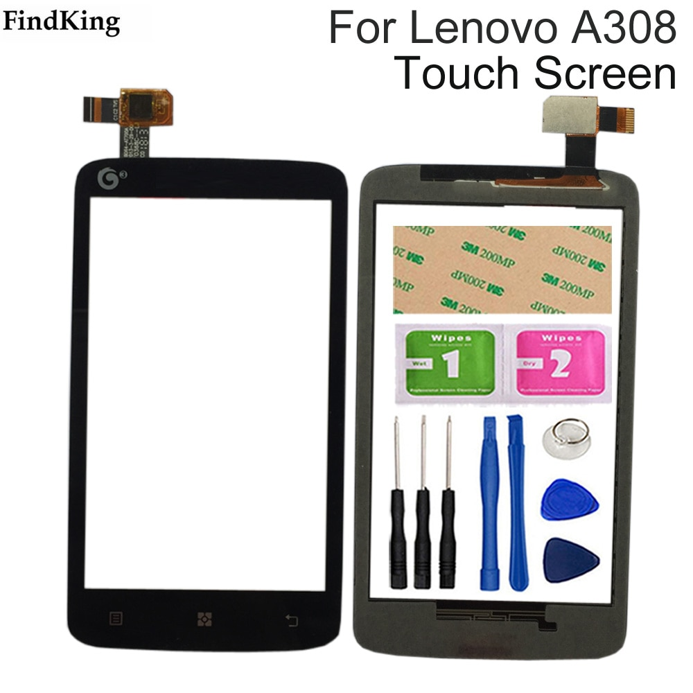 4.0'' Mobile Phone Front Touch Glass For Lenovo A308 Touch Screen Glass Digitizer Panel Lens Sensor
