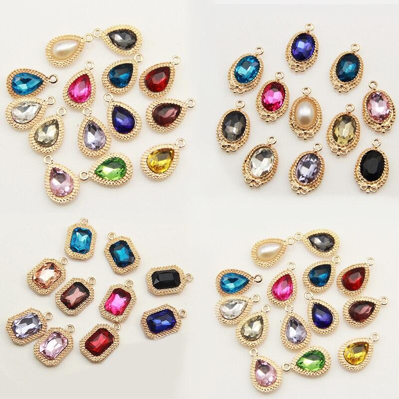 2020new 100 pçs kc ouro acrílico centro liga botão para diy brinco ou colar pingentes decoraiton acessórios PLY176-PLY178