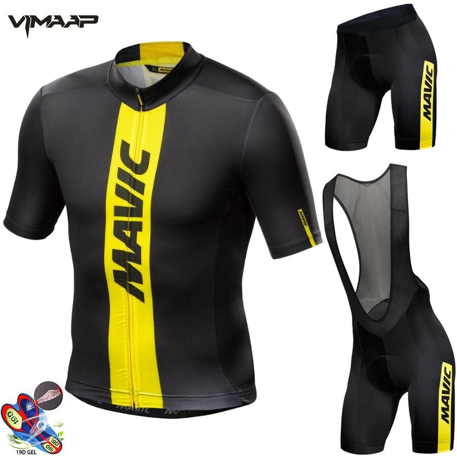 Nuevo verano 2021 MAVIC Ciclismo Jersey conjunto de manga corta traje de...