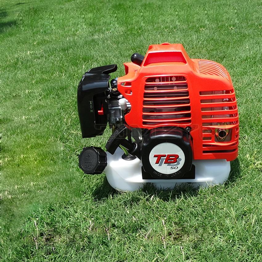 TB50 محرك البنزين بالطاقة محرك 52CC اسطوانة واحدة ، تبريد الهواء 2 السكتة الدماغية آلة تقطيع الفراشي العشب إزالة الأعشاب الضارة قارب محرك هوك الم...