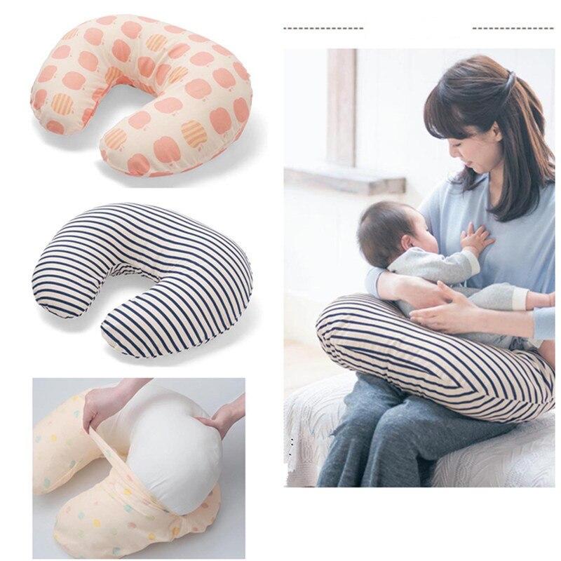 Almohadas multifuncionales para bebés, almohada de lactancia en forma de U, almohada de lactancia para bebés, cojín de cintura para alimentación de algodón para bebés, almohadas para el cuidado del bebé