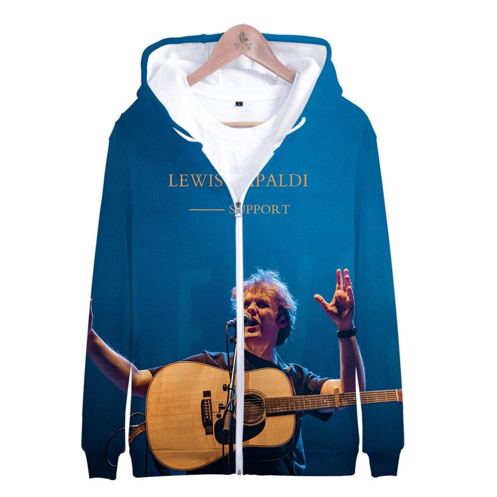2019 Lewis Capaldi Zipper Hoodie 3D Cap Hoodies Sweatshirts Men/Women Harajuku  Lewis Capaldi Zipper Hooded Coats Casual