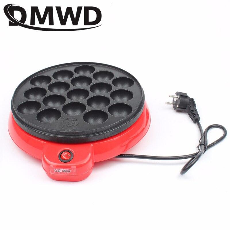 DMWD Japón fabricante profesional de bolas de pulpo Takoyaki máquina de hornear mini eléctrica Chibi Maruko parrilla pan 110V 220V con 18 agujeros