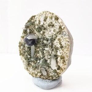 Натуральный Синий флюорит кальцит 88 г, минеральный образец, внутреннее украшение аквариума, кристалл и камень для лечения