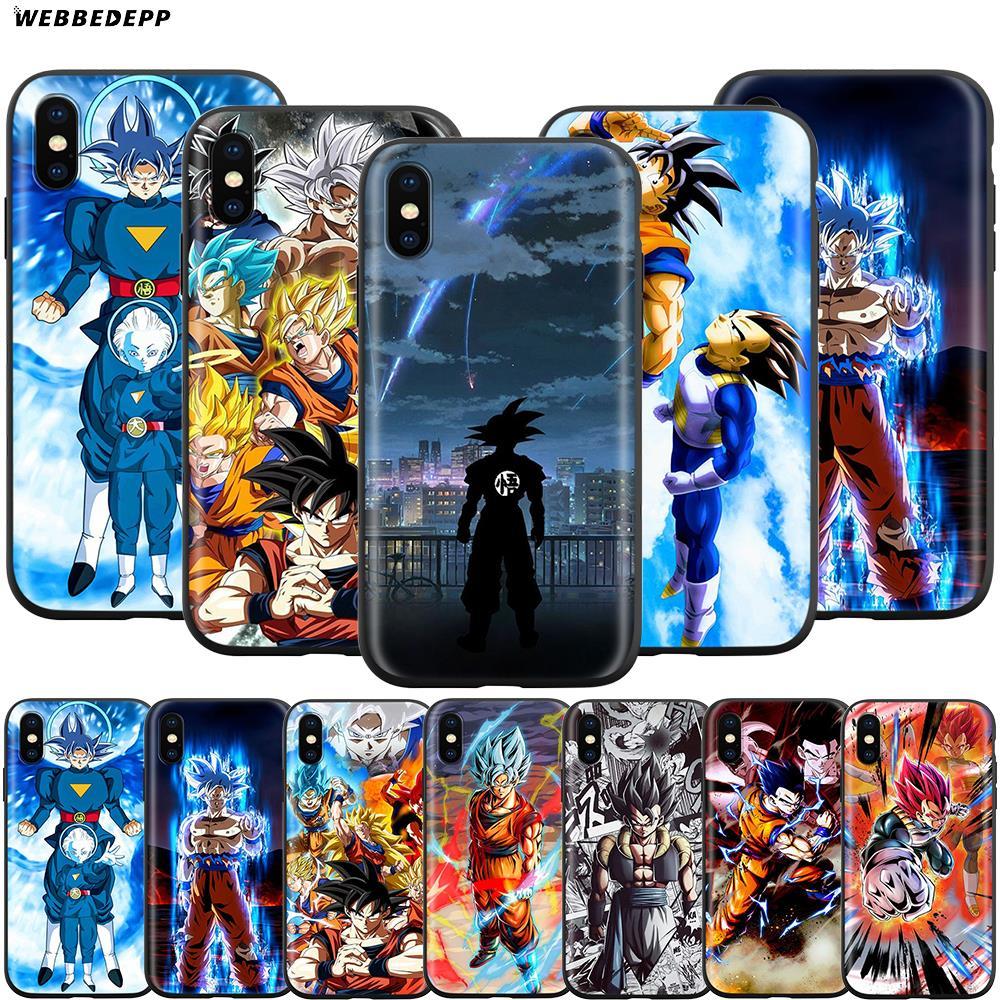 Чехол Webbedepp Dragon Ball Z Super DBZ Goku для Apple iPhone 11 Pro XS Max XR X 8 7 6 6S Plus 5 5S SE