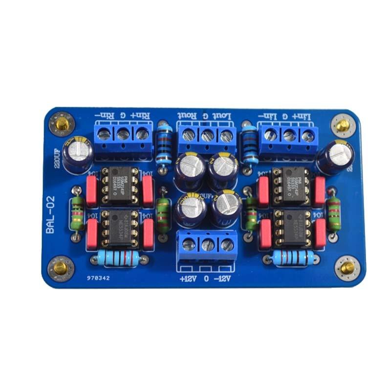 Señal XLR balanceada SSM2141 a RCA desbalanceado amplificador de potencia de un solo extremo 5532 OP AMP para amplificadores de sonido de Audio