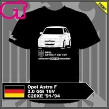 GT-camisa Opel Astra F 2,0 GSi 16V C20XE 91-94 Camiseta tee