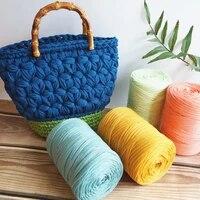 6pcslot 1 5kg economic flat wire cloth strip line flat yarn diy handmade bag woven yarn for hand knitting thick thread