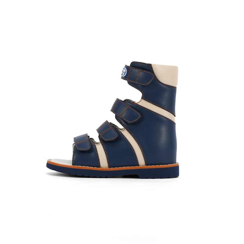 Ortoluckland Children Sandals Baby Leather Orthopedic Shoes Kids Boy Fashion High Top Tiptoeing Clubfoot Toddler Footwear enlarge