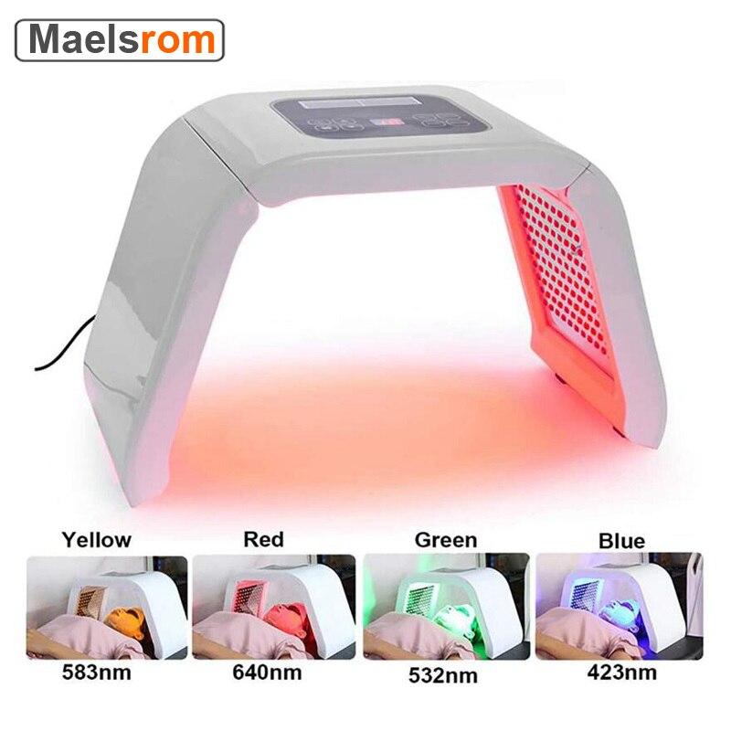 Plegable LED Facial dispositivo Espectrómetro de eliminación de acné agente de fotones...
