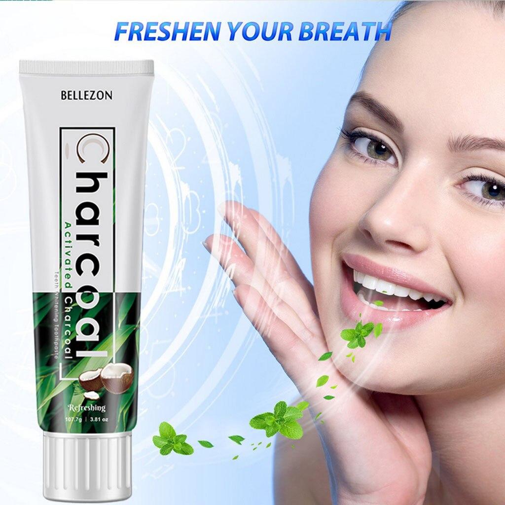 Bellezon, cáscara de coco, pasta de dientes de carbón de bambú, refrescante carbón activado, cuidado fresco, dientes blancos brillantes, triangulación de envío