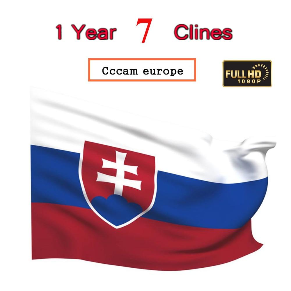 Специально для Словакия Европа HD 2 года Cccam europeSpain Португалия Германия Польша спутниковый ТВ-приемник 7 Клинок для DVB-S2 V8 BOX