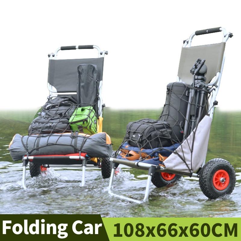 Carro Plegable portátil para acampar y pescar, carrito Plegable para jardín, casa